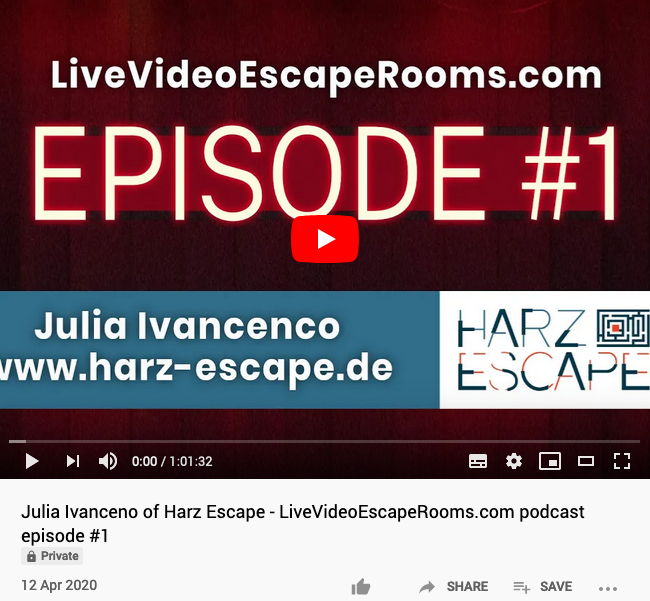 watch the interview with Julia of Harz Escape on YouTube Now